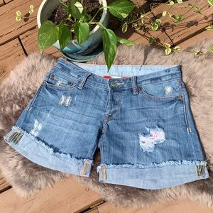 Lucky Brand Pioneer Lil Maggie Cuff Shorts 00/24